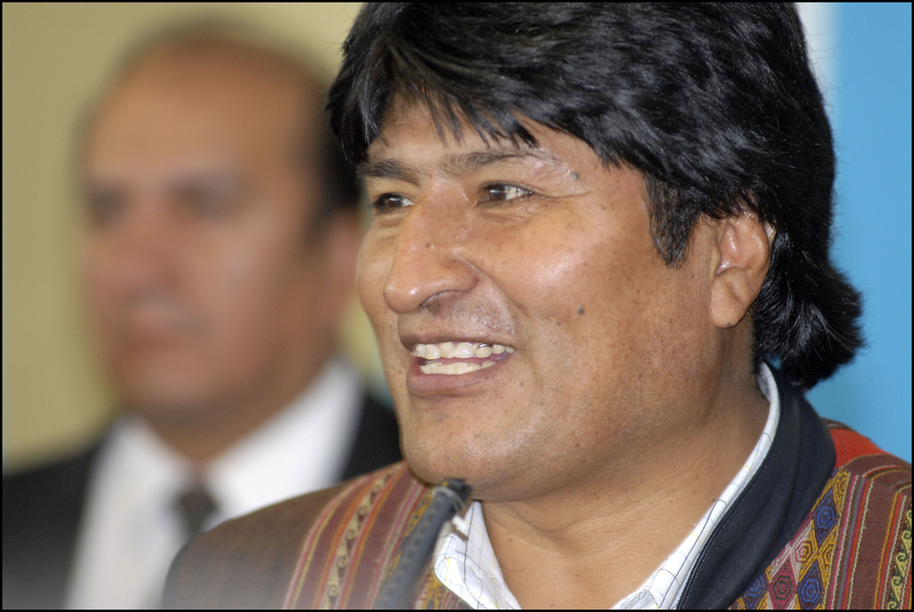 Presidente de Bolivia Evo Morales. Imagen de Flickr del usuario  Alain Bachellier (CC BY-NC-ND 2.0).