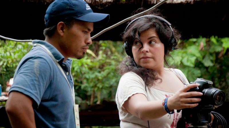 Raúl y Andrea en el rodaje. Foto usada con autorización.