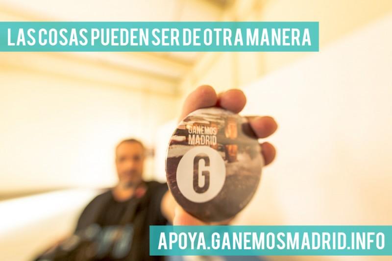 Foto tomada de la página oficial de Ganemos Madrid, y usada bajo Licencia CC.