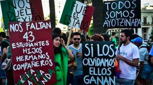 Captura de pantalla del sitio Periodismo Ciudadano sobre las protestas en México por el caso Ayotzinapa.