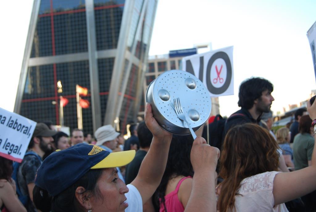 Manifestación contra el rescate a Bankia en 2012. Imagen: Diana Moreno.