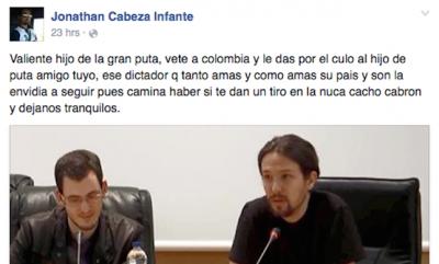 Comentario de Cabeza Infante sobre Pablo Iglesias. Imagen de la web ecorepublicano.es con licencia CC BY