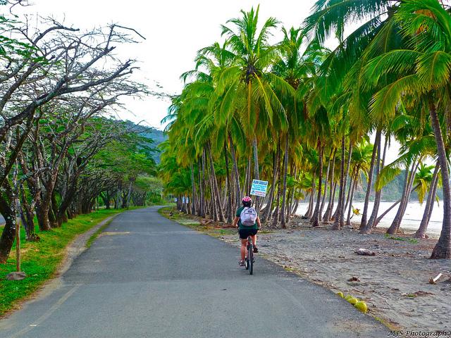 Paseo en bicicleta en Costa Rica, por Marissa Strniste. Foto tomada de Flickr y publicada bajo licencia Creative Commons.