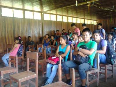 Taller de periodismo con los jóvenes de 04 comunidades indígenas