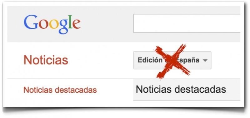 Adiós a la edición española de Google News. Imagen del Blog de Enrique Dans con licencia CC BY 3.0