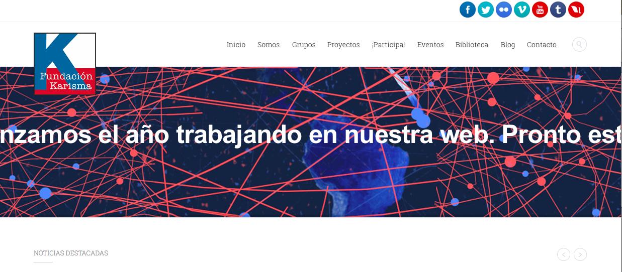 Captura de pantalla del sitio web de la Fundación Karisma en Colombia