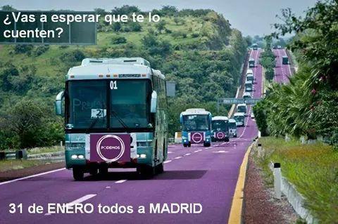 Cartel de convocatoria de Podemos para la Marcha por el Cambio #31E