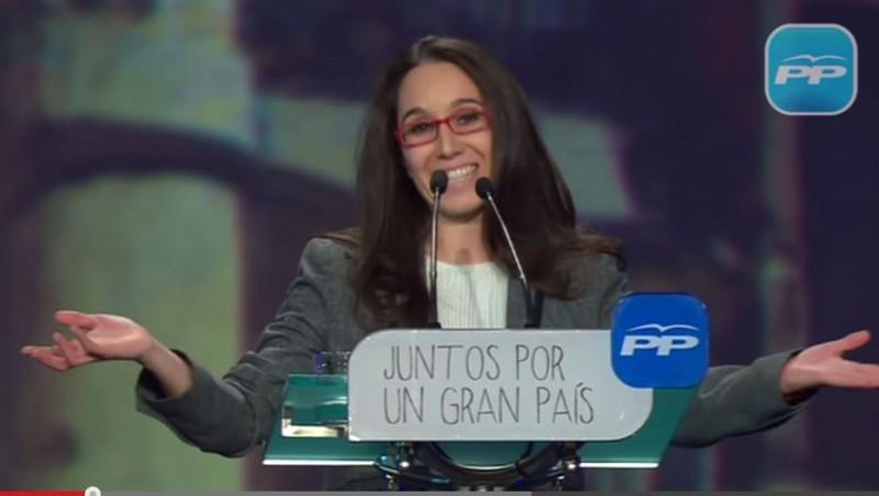 Mercedes Pérez, alcaldesa de Redueña, en la Convención Nacional 2015 del Partido Popular