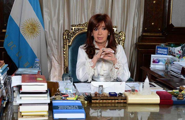 Presidenta de Argentina, Cristina Fernández de Kirchner. Foto tomada de la cuenta oficial de la mandataria en Facebook