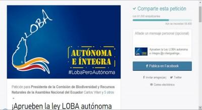 Petición Virtual #LobaPeroAutónoma