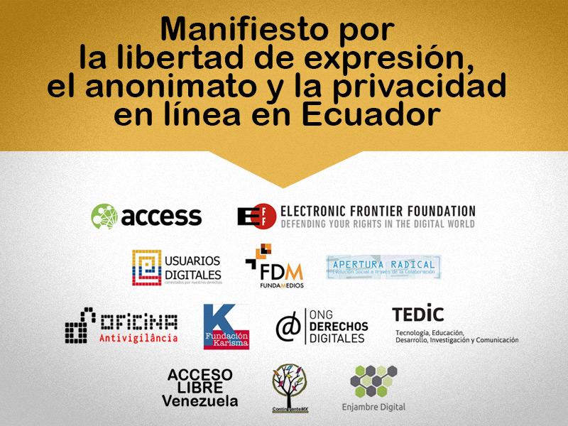 Organizaciones que del Ecuador, Internacionales y de distintos países que se adhirieron al Manifiesto.