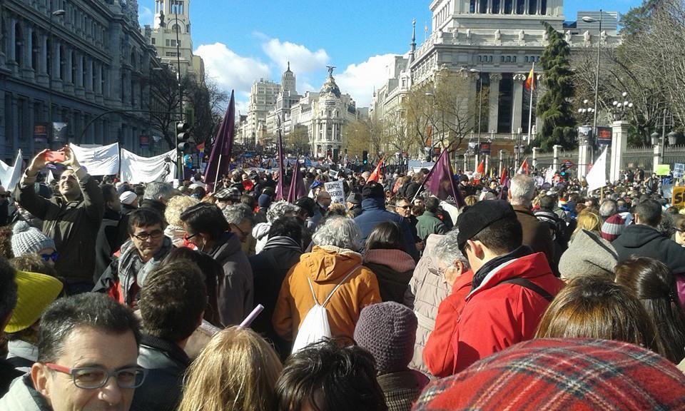 La Marcha convocada por Podemos sigue su curso. Foto de Wassim Zabad. Usada con permiso