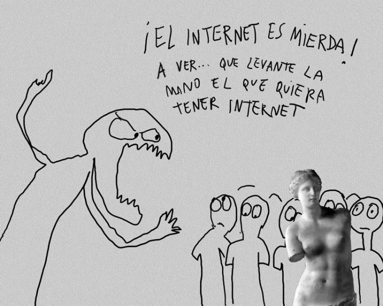 Caricatura de Lázaro Saavedra (reproducida con autorización)