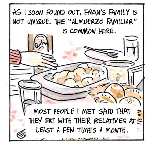 Historieta Supper Sunday publicado en el blog The Nib, imagen utilizada con autorización