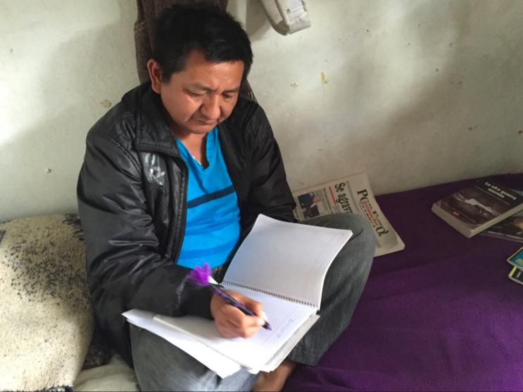 El periodista maya Pedro Canché, autor de Diario de un preso de conciencia. Foto tomada de tumblr.