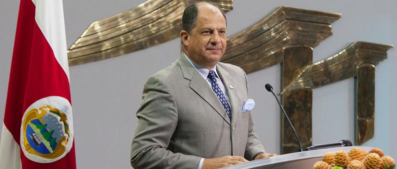 El presidente de Costa Rica, Luis Guillermo Solís. Foto: Presidencia.