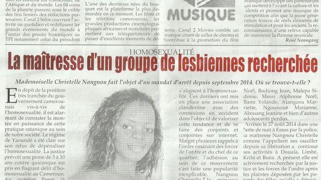 Recorte de periódico aportado por Christelle Nangnou para demostrar la persecución de que es víctima. Foto de eldiario.es con licencia CC BY-SA 3.0