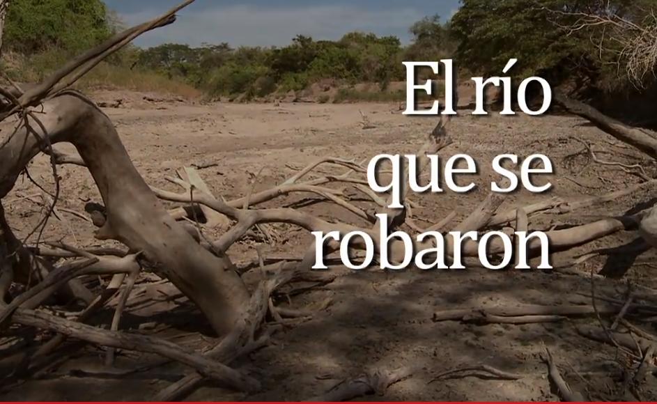 Кадр из документального фильма, рассказывающего о критическом положении индейцев вайю после перекрытия плотиной главной водной артерии региона Гуахира.