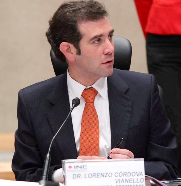 Lorenzo Cordova Vianello, presidente consejero del Instituto Nacional Electoral (INE). Foto: Twitter