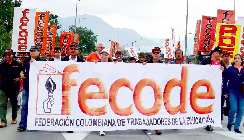 Foto de una de las marchas en Colombia impulsada por la Federación Colombiana de Trabajadores de la Educación del 22 de abril de 2015. Foto: Marcela Zuluaga, tomada de la cuenta en Flickr El Turbión bajo licencia Creative Commons.