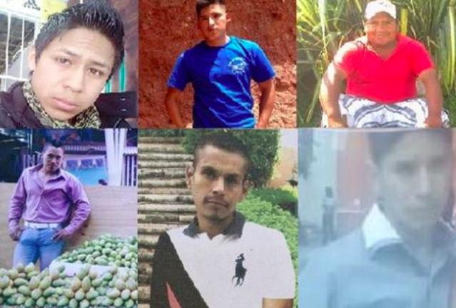 Mosaico con fotos de algunos de los desaparecidos de Chilapa. Imagen tomada del blog Sopitas.