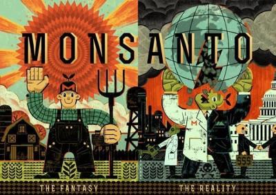 """La """"fantasía y la realidad"""". Foto de la página de Facebook  """"Millones contra Monsanto""""."""