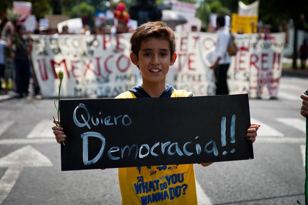 """""""Quiero democracia"""". Fotografía de Marte Merlos bajo licencia CC BY-NC-ND 2.0"""