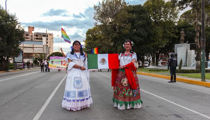 12va. Marcha del Orgullo, la Dignidad y la Diversidad Sexual en México. Foto tomada de la cuenta en Flickr de Jesus M. Hernandez.