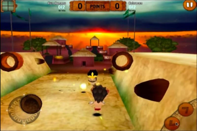 """Captura de pantalla del trailer de """"Mayan Pitz"""", el juego de video basado en el Juego de Pelota Maya."""
