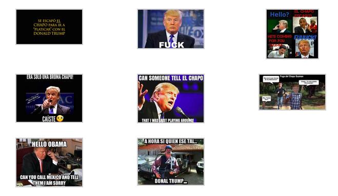 Memes Mexico Trump and El Chapo