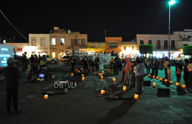 Protest in Ostula, Mexico