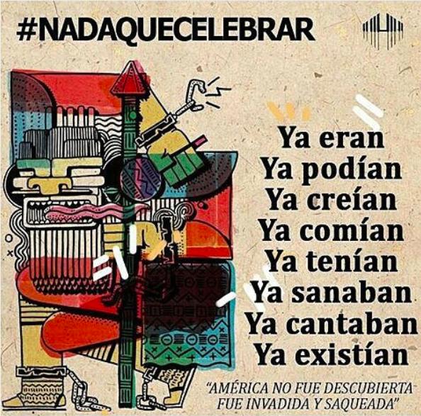 #NadaqueCelebrar 12 de octubre