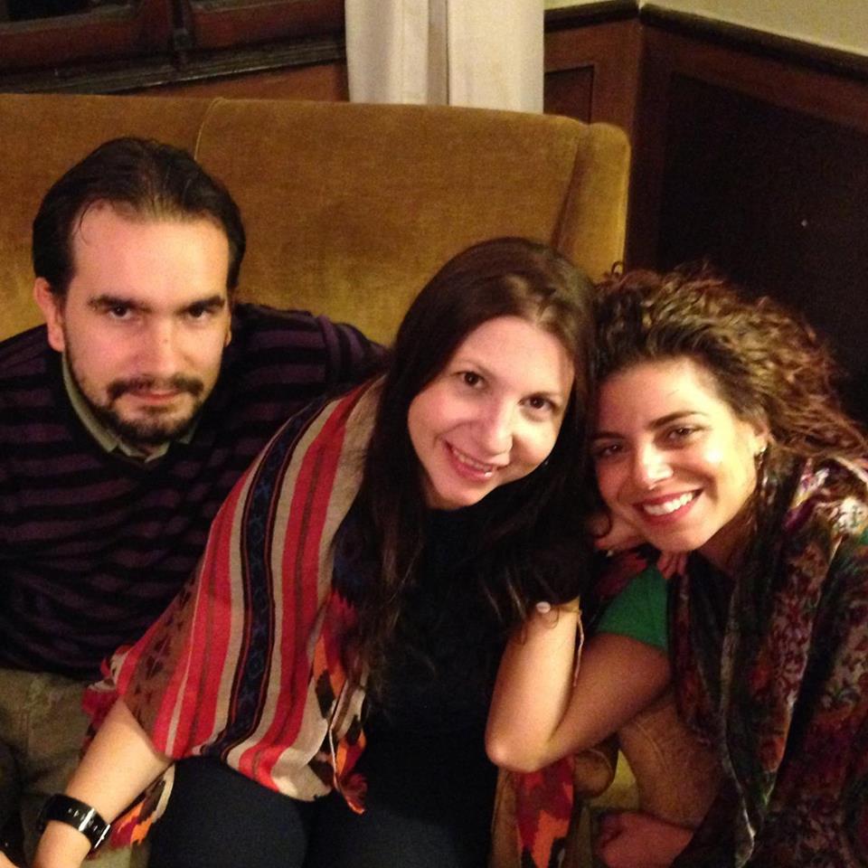 Los directores del Progetto 7LUNE Daniele Rubin y Silvia Favaretto, junto a la vicedirectora Sarah Grimaldi.
