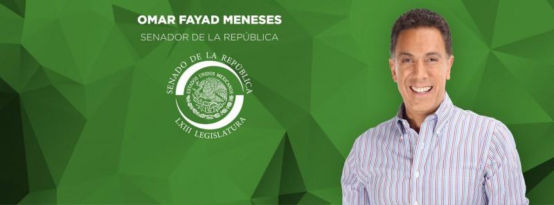 Imagen del perfil público en Facebook del Senador Omar Fayad [PRI].
