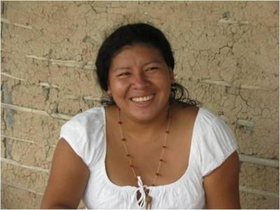 Profesora pemón Ana Figueroa.
