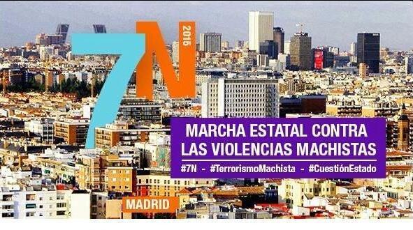 Cartel de la marcha, circulado ampliamente.