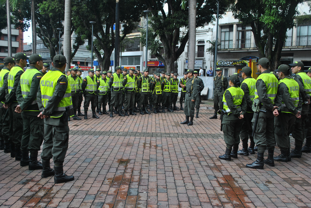 The National Police of Colombia, photo taken from the Flick body of security account under license by Creative Commons