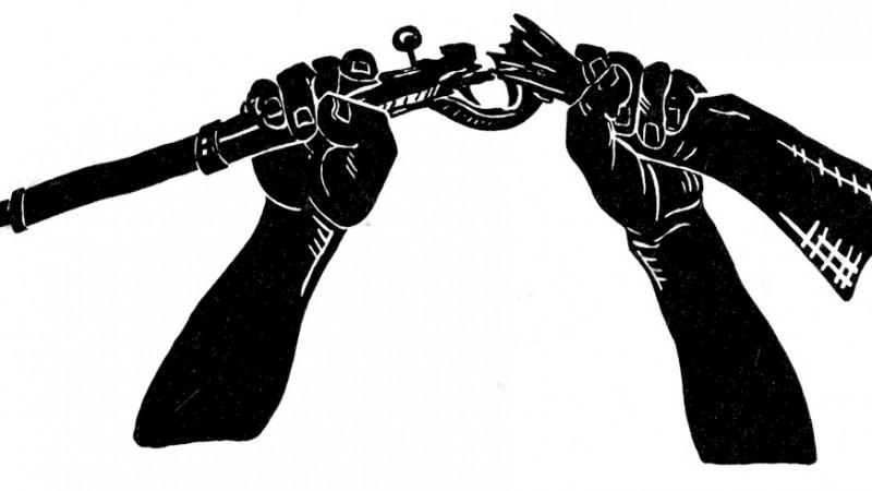 Logo de la coalición anti-guerra. Imagen tomada de Wikimedia Commons.
