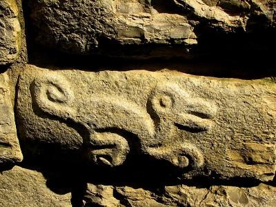 Petroglifo en Kuélap. Imagen en Flickr del usuario Jorge Gobbi (CC BY 2.0).