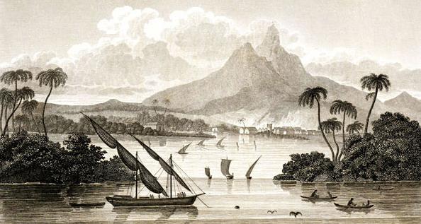Grabado de Costa del Mosquito en el territorio de Poyais. Imagen de Wikipedia, dominio público.