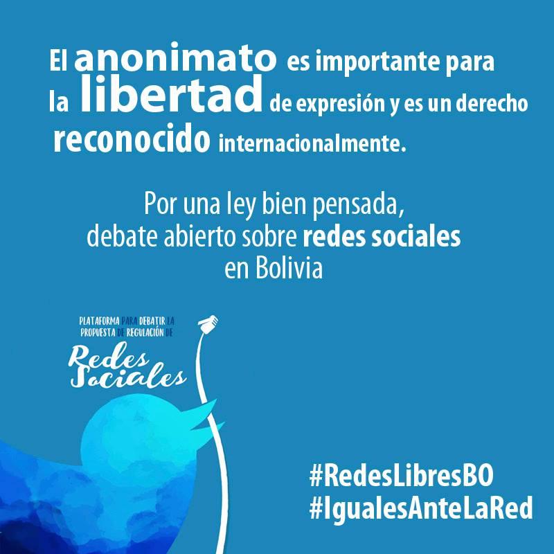 Un gráfico del movimiento #RedesLibresBO