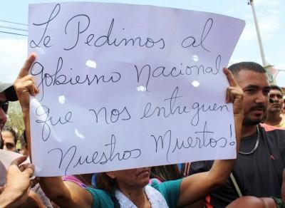 Protesta en Tumeremo. Fotos: Cortesía.