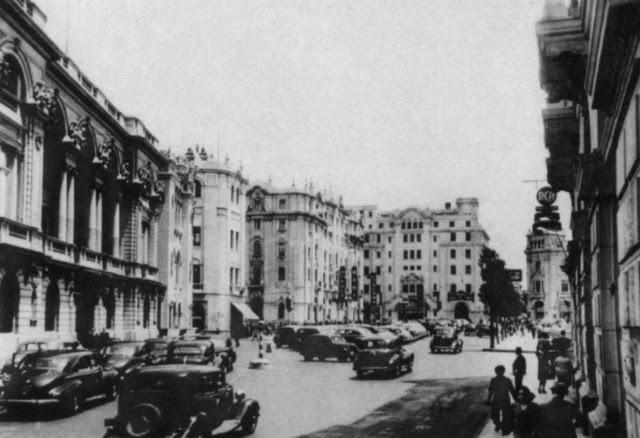 Calle Portada de Belén, década de 1940. imagen en Flickr del usuario leondeurgel (CC BY-NC-ND 2.0).