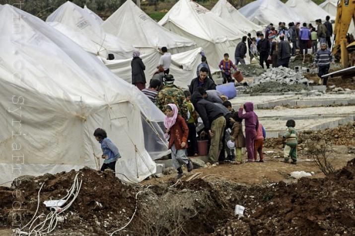 Campo de refugiados en Turquía. Foto de Syria Freedom en ebc.com, con licencia Creative Commons CC BY 3.0 BR