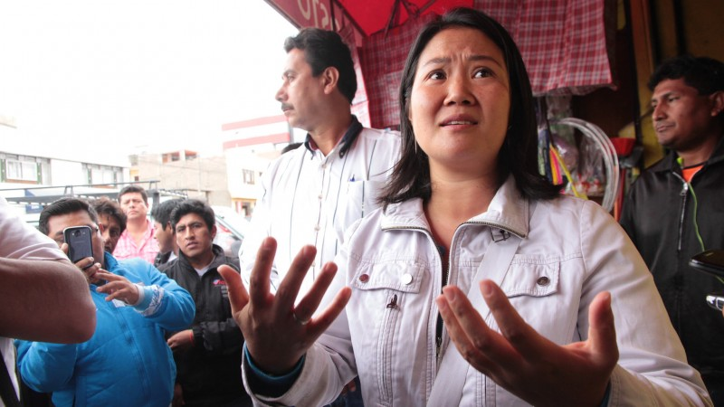 Questions about possible connections between Keiko Fujimori's political party and drug trafficking raise doubts about her ability to fight corruption if elected as head of the Peruvian state. Photo by Néstor Soto Maldonado used under Creative Commons license (CC BY-NC 2.0).