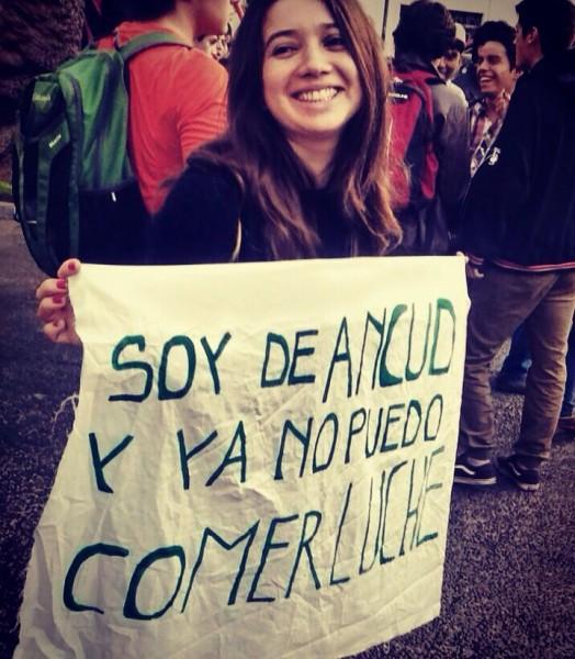 """""""Soy de Ancud y ya no puedo comer luche"""". Foto de Victor Bahamonde. Usada con permiso."""