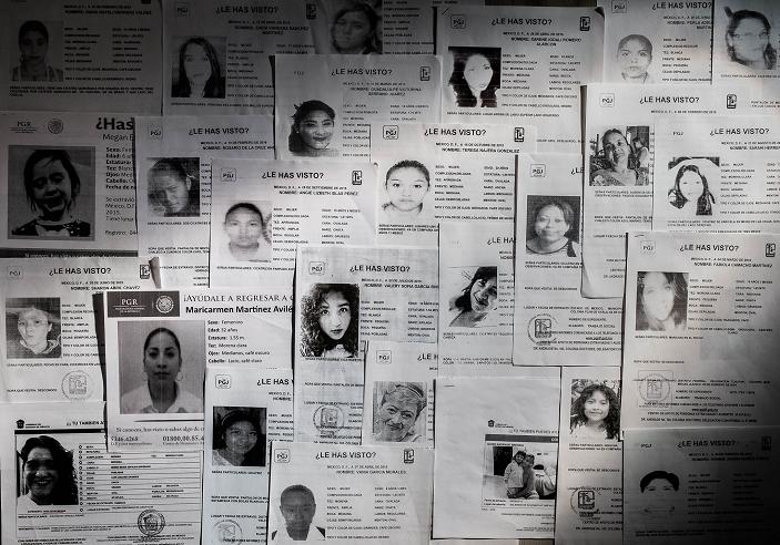 """""""Mujeres desaparecidas"""". Foto de Luis Sandoval para El Universal. Publicada con permiso de CONNECTAS."""