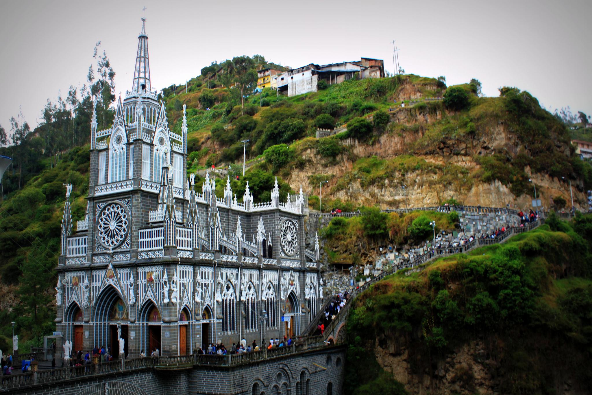 Santuario de Nuestra Señora del Rosario de las Lajas. Imagen en Flickr del usuario Jonathan Wood (CC BY-ND 2.0).