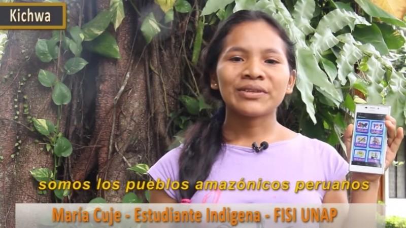 Captura de pantalla del video promocional de la aplicación.