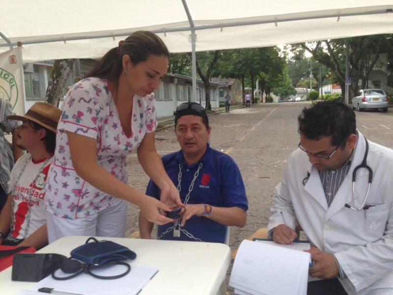 Carlos Arturo Gamboa Bobadilla durante la huelga de hambre. Foto de su cuenta de Facebook, utilizada con su autorización.